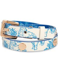 Tory Burch - Reversible Double Wrap Leather Bracelet - Lyst