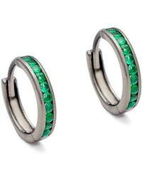 Anna Sheffield - Licol Emerald Hoop Earrings (nordstrom Exclusive) - Lyst
