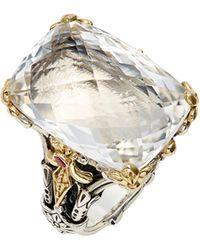 Konstantino Pythia Crystal Cocktail Ring - Metallic