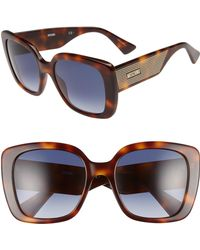 Moschino - 54mm Square Sunglasses - - Lyst
