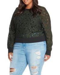 REBEL WILSON X ANGELS Lace Sweatshirt - Multicolor