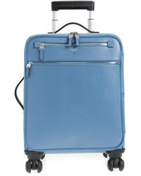 Stefano Serapian Trolley Spinner Wheeled Carry-on Suitcase - Blue