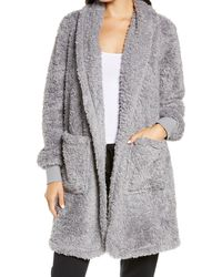 BP. Fleece Short Robe - Gray