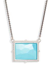 Armenta New World Rectangle Pendant Necklace - Metallic