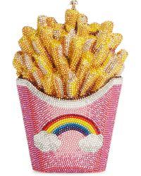 Judith Leiber 'french Fries' Crystal Pavé Minaudière - Multicolour