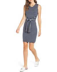 Amour Vert - Tie Waist Body-con Dress - Lyst