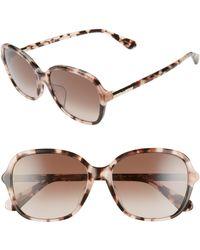 Kate Spade - Bryleefs 56mm Round Sunglasses - Lyst