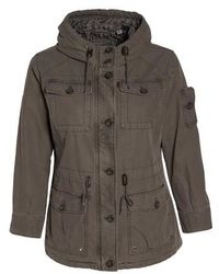 Levi's   Levi's Hooded Cotton Utility Jacket   Lyst