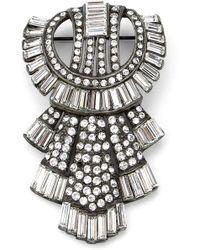 Ben-Amun Ben Amun Deco Brooch - Metallic