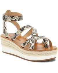 Lucky Brand Jakina Platform Wedge Sandal - Multicolour
