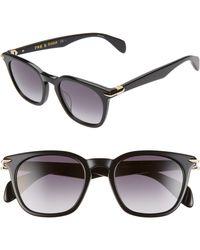 Rag & Bone 50mm Sunglasses - Black
