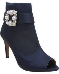 J. Reneé Pranati Embellished Open Toe Bootie - Blue