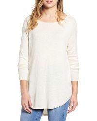 Caslon Caslon Shirttail Tunic Sweater - Natural