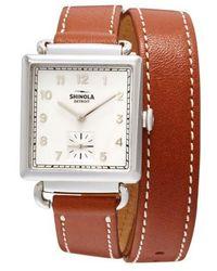 Shinola | Cass Leather Strap Watch | Lyst