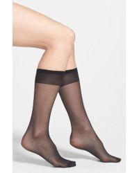 Nordstrom - 3-pack Sheer Knee Highs, Black - Lyst