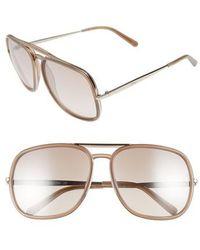 Chloé - 60mm Gradient Lens Navigator Sunglasses - Lyst