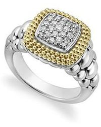 Lagos | Diamond Lux Square Ring | Lyst