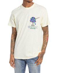 ICECREAM Men's Worldwide Embroidered Graphic Tee - White