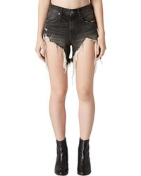 Blank NYC - Distressed Denim Mom Shorts - Lyst