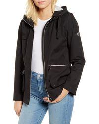 Bernardo Hooded Rain Jacket - Black