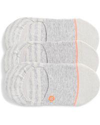 Stance Sensible 3-pack No-show Socks, Grey - Gray