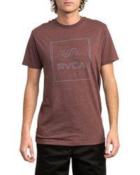 RVCA - Pinner All The Way Short Sleeve T-shirt - Lyst