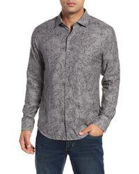 b0e9721153c Lyst - Tommy Bahama  tropical Lilies  Regular Fit Silk Camp Shirt ...