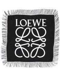 Loewe - Anagram Silk Scarf - Lyst