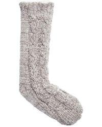 Make + Model - Cable Knit Slipper Socks - Lyst