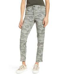 Wit & Wisdom Ab-solution High Waist Camo Ankle Pants - Green