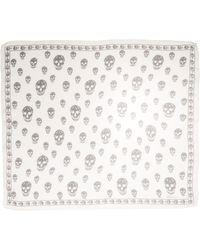 Alexander McQueen Skull-pattern Scarf - Black