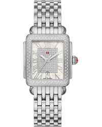 Michele Deco Madison Diamond Watch Head & Bracelet - Metallic