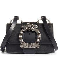 1f8223b222 Miu Miu - Madras Crystal Embellished Leather Shoulder Bag - Lyst