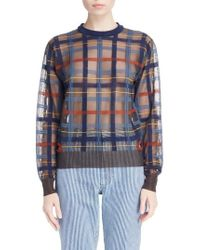 Toga - Check Knit Sweater - Lyst