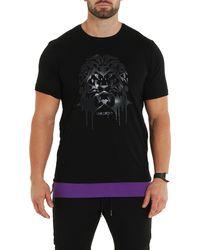 Maceoo Lion Graphic Tee - Black