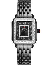 Michele - Deco Madison Mid Ceramic Bracelet Watch - Lyst