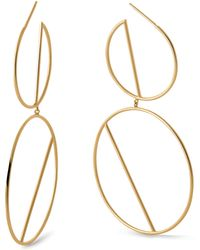 Lana Jewelry - Double Wire Eclipse Hoop Earrings - Lyst