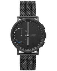 Skagen Hagen Connected Mesh Strap Hybrid Smart Watch - Black