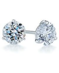 Kwiat | 0.50ct Tw Diamond & Platinum Stud Earrings | Lyst