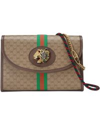 7df25021d90 Lyst - Gucci Small Linea Dragon Embroidered Shoulder Bag - in Blue