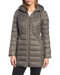 Bernardo - Hooded Packable Down & Primaloft Coat, Brown - Lyst