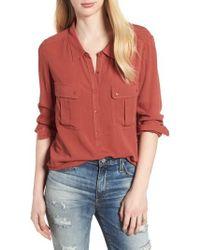 AG Jeans - Nevada Cotton Henley Shirt - Lyst