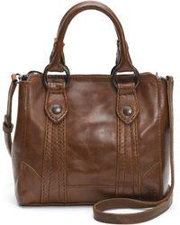 Frye - Melissa Mini Leather Crossbody Tote Bag - Lyst