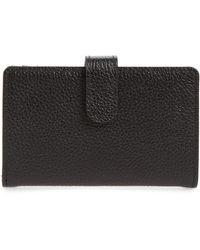 Nordstrom Kelly Leather Card Case - Black