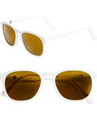Noah X Vuarnet District Round Sunglasses - White