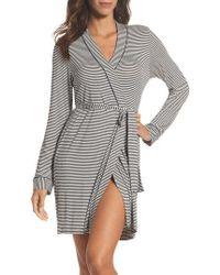 UGG - Ugg Aldridge Stripe Short Robe - Lyst
