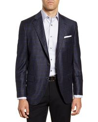 Peter Millar Hyperlight Classic Fit Check Wool Sport Coat - Gray