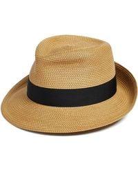 Eric Javits Classic Squishee Packable Fedora Sun Hat - Black