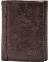 Fossil Neel Leather Wallet - Brown
