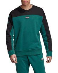 Vocal A Colorblock Crewneck Sweatshirt Green